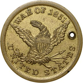 1861-DATED DOG TAG M&S-5A, GILT/BRASS 28mm MS obverse