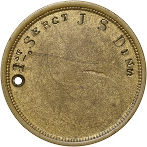 1861-DATED DOG TAG M&S-5A, GILT/BRASS 28mm MS reverse