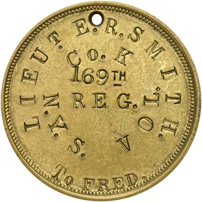 1861-DATED DOG TAG M&S-2A, BRASS 30mm MS reverse