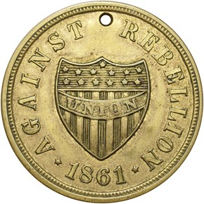 1861-DATED DOG TAG M&S-2A, BRASS 30mm MS obverse