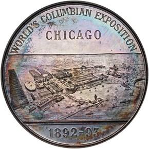 1892-93 E-99 AR/WM CHRISTOPHUS COLOMBUS 50.5mm MS reverse