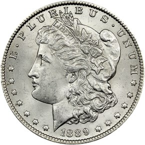 1889 O $1 MS obverse