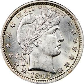 1895 25C MS obverse