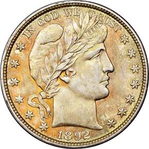 1892 O 50C MS obverse