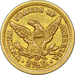 1847 D $2.5 MS reverse