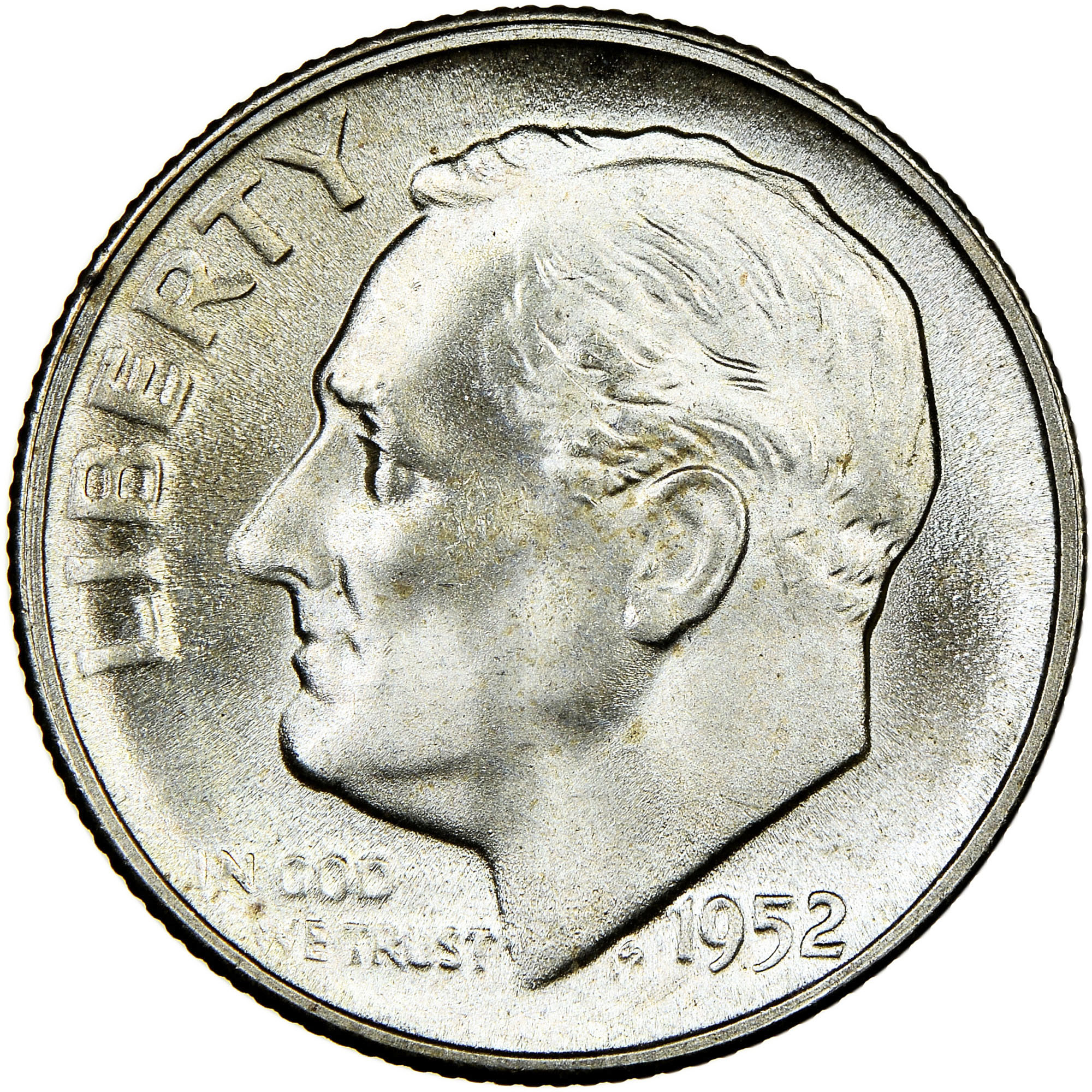 US Roosevelt Dimes 1952 1952-D 1952-S Price per Each Coin issued year 1952