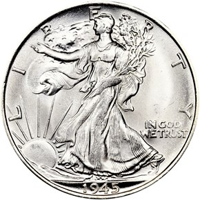 1945 S 50C MS obverse