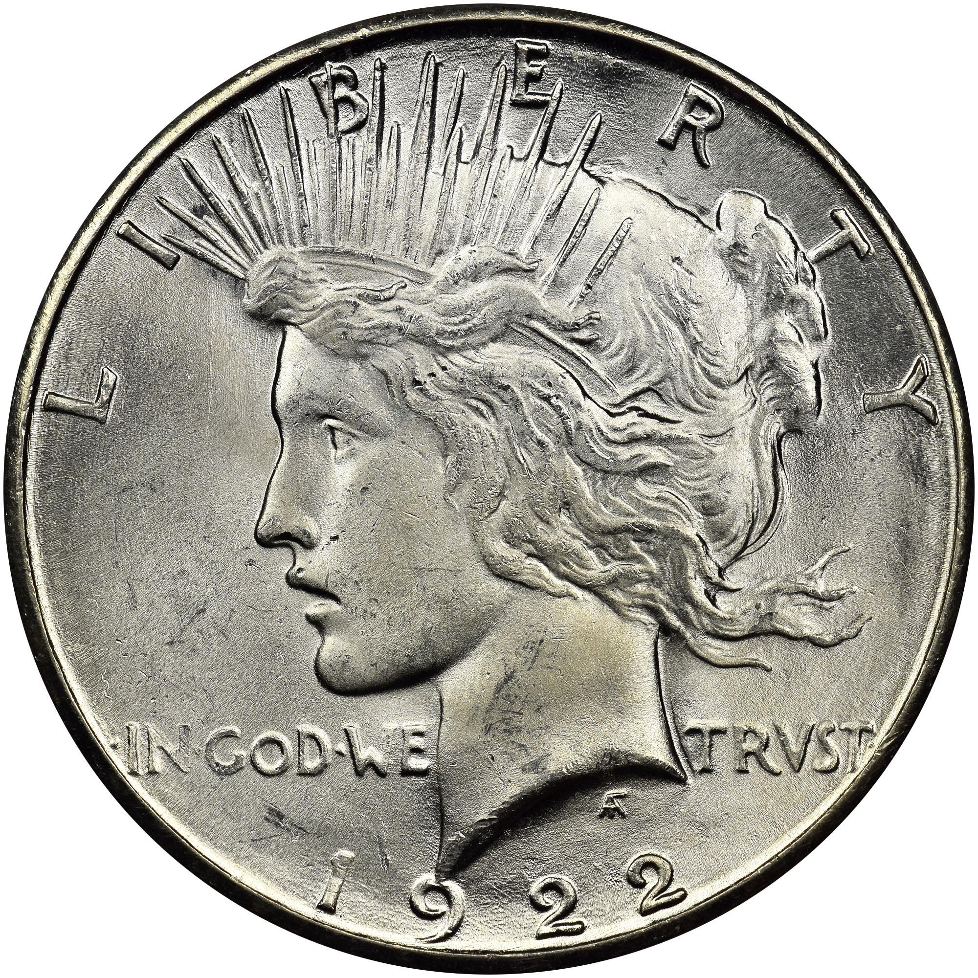 1922-S Peace Silver Dollar Circulated San Francisco Mint