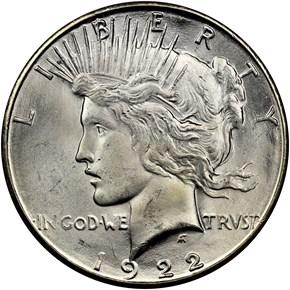 1922 S $1 MS obverse