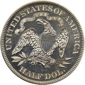 1868 50C PF reverse