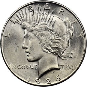 1926 S $1 MS obverse
