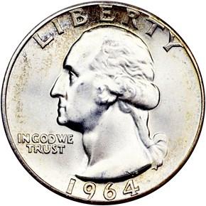 1964 25C MS obverse
