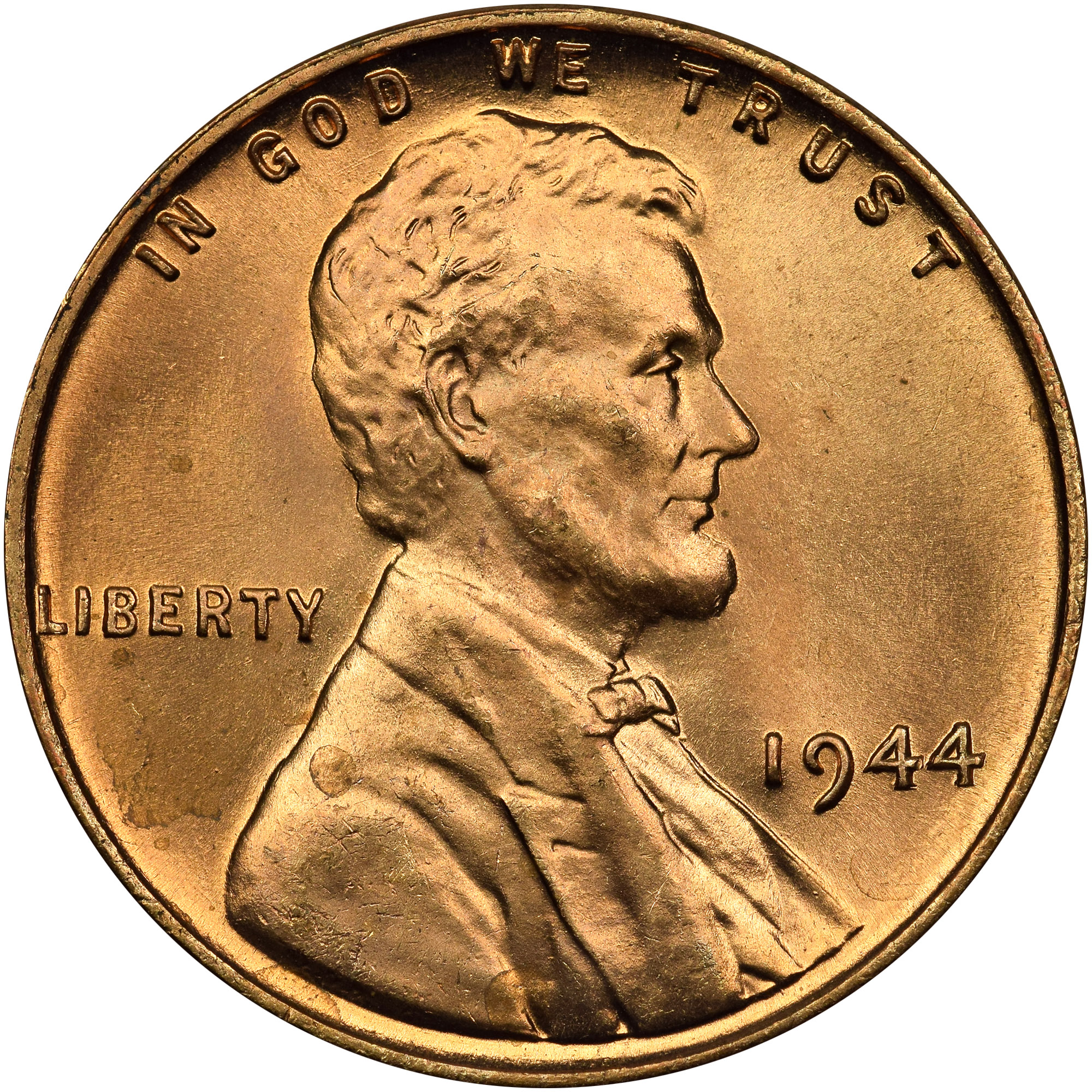 1944 1C MS Lincoln Cents, Wheat Reverse | NGC