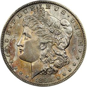 1892 S $1 MS obverse