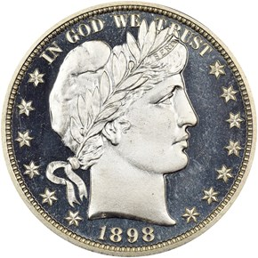 1898 50C PF obverse
