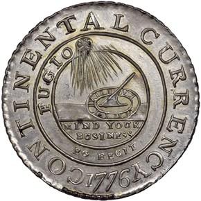 1776 PEWTER 'EG FECIT' CONTINE obverse