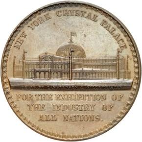 1853 NY HK-5 CRYSTAL PALACE SC$1 MS reverse