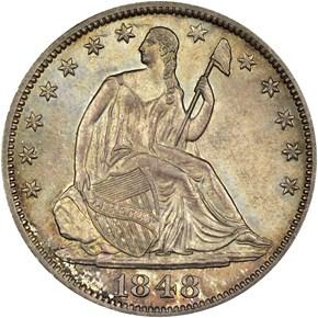 1848 O 50C MS obverse