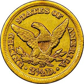 1849 D $2.5 MS reverse