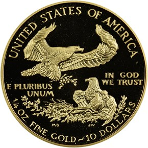 1993 P EAGLE G$10 PF reverse