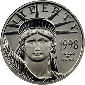 1998 EAGLE P$10 MS obverse