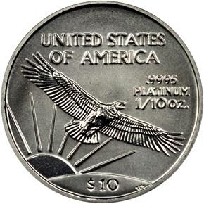 2002 EAGLE P$10 MS reverse