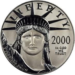 2000 EAGLE P$100 MS obverse