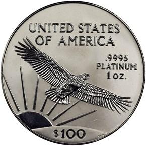 2000 EAGLE P$100 MS reverse