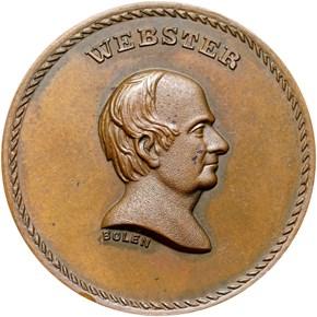 c.1867 BOLEN JAB-29 WEBSTER / ABLE DEFENDER CU MS obverse