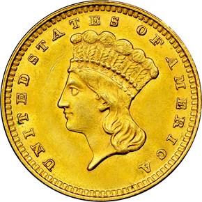 1862 G$1 MS obverse
