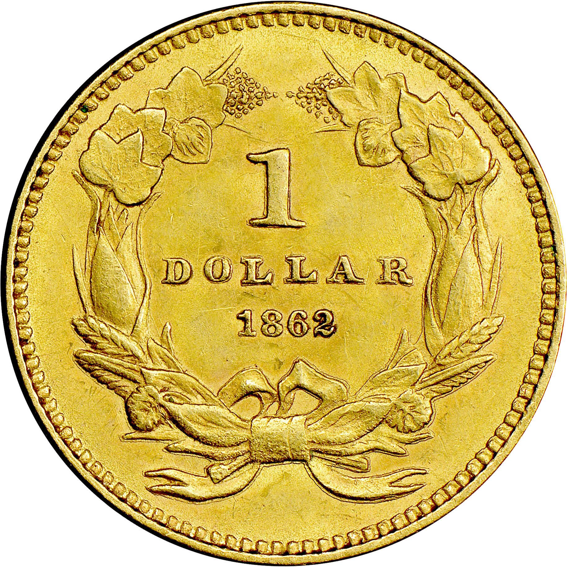 1862 G 1 Ms Gold Dollars Ngc