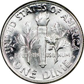1957 10C MS reverse