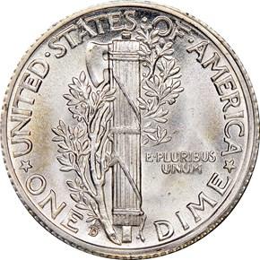 1936 D 10C MS reverse