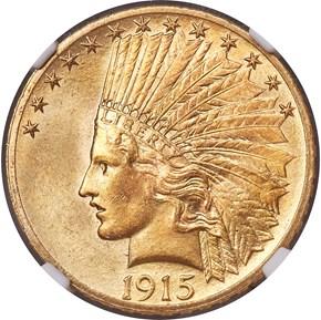 1915 $10 MS obverse