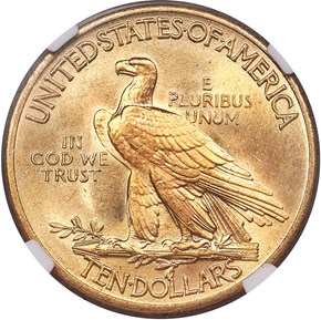 1915 $10 MS reverse