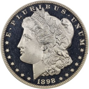 1898 $1 PF obverse