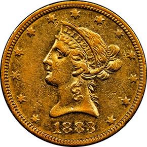 1883 O $10 MS obverse
