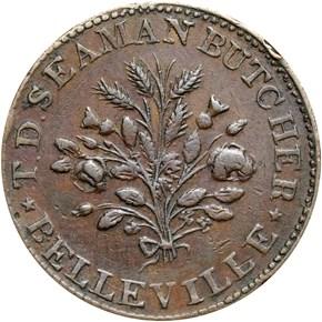 (1837) BELLEVILLE HT-204B, T.D. SEAMAN NJ MS reverse