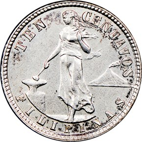 1914 S USA-PHIL 10C MS obverse