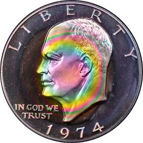 1974 S SILVER $1 PF obverse