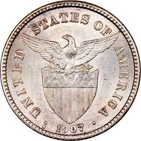 1907 S USA-PHIL 20C MS reverse