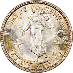 1929 M USA-PHIL 20C MS obverse