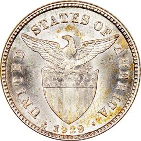 1929 M USA-PHIL 20C MS reverse
