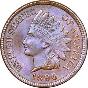 1890 1C MS obverse