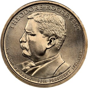 2013 P THEODORE ROOSEVELT $1 MS obverse