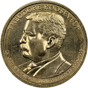 2013 D THEODORE ROOSEVELT $1 MS obverse