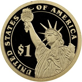 2013 S THEODORE ROOSEVELT $1 PF reverse