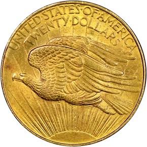 1908 D NO MOTTO $20 MS reverse