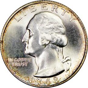 1948 S 25C MS obverse