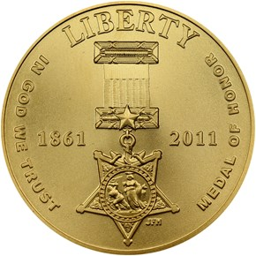 2011 P MEDAL OF HONOR $5 MS obverse